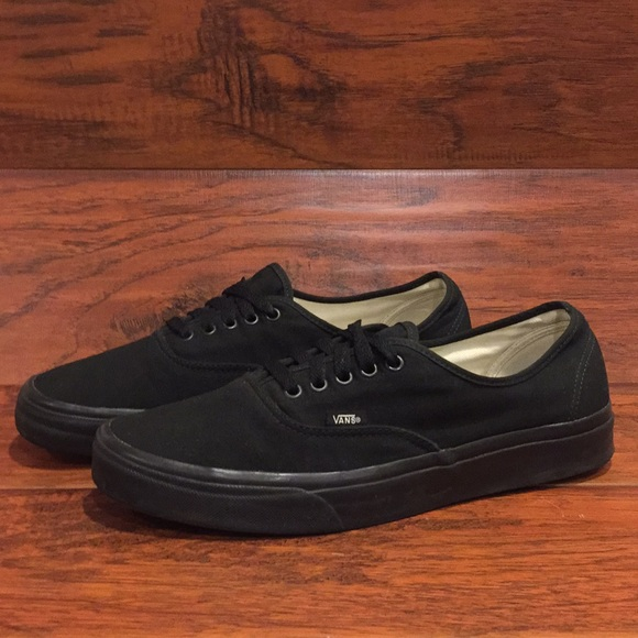 Vans Authentic Era Classic Canvas Shoes Black Men